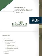 Highland Presentation Feb 2