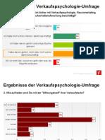 Verkaufspsychologie-Umfrageergebnisse