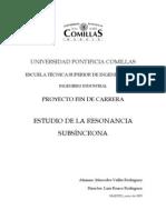 ESTUDIO DE LA RESONANCIA SUBSÍNCRONA