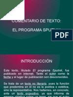 corrección comentario de texto EL PROGRAMA SPUTNIK