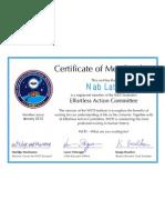 WETI Certificate