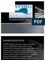 NYPIRG Higher Education