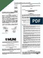 Acuerdo COM-012 (Reglamento Para La Construccion de Edificaciones en Areas REsidenciales 24-06-2002