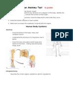 Human Anatomy Study Guide