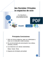 Charla Redes Sociales Virtuales Como Espacios de Ocio, Dirigida a Alumnos de Batxillerato 20 de Diciembre de 2010