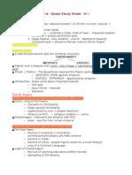 ByzantineFeudal Europe Study Sheet