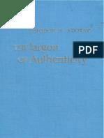 Adorno::Jargon of Authenticity