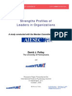 AIESEC Leadership Strengths Profile Research - David J. Pollay - Publication Final Version
