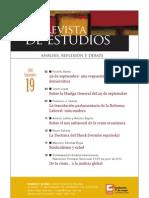 Revista de Estudios, nº 19, septiembre 2010