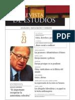 Revista de Estudios, nº 23, enero 2011