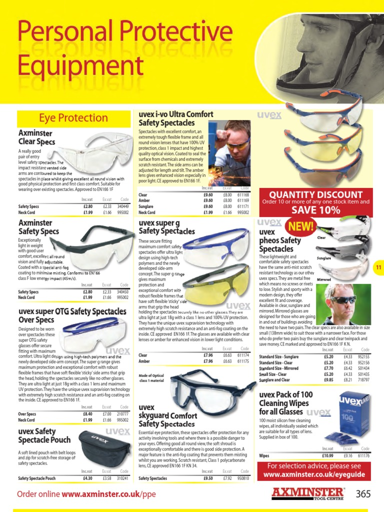 ad11059385 Axminster 11 - Personal Protective Equipment p365-p385
