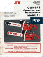 Homelite - Owners Manual XL-12 & SXLAO