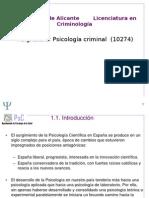 TEMA 1 Psicología criminal