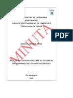 ANÁLISE DAS CAUSAS DE FALHAS NO SISTEMA DE FREIO DINÂMICO EM LOCOMOTIVAS FROTA A