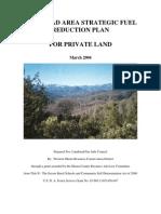 Lakehead Area Strategic Fuels Management Plan