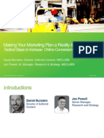 Making Your Marketing Plan a Reality in 2012 -Tactical Steps to Increase Online Conversions