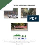 Fire Safe Plan for the Shingletown Community
