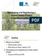 Developing and Registering a Forest Carbon Project in Northern California