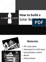 How to Build Solar Bottle Bulb