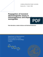 Peter Bernekorn, Anders Karlsson and Gerhard Kristensson- Propagation of transient electromagnetic waves in inhomogeneous and dispersive waveguides
