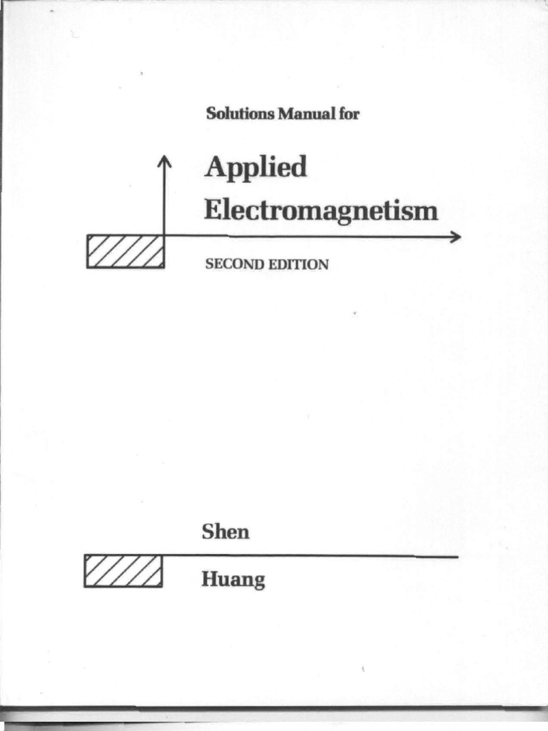 Solutions Manual for Shen and Kong's Applied Electromagnetism | Antenna  (Radio) | Polarization (Waves)