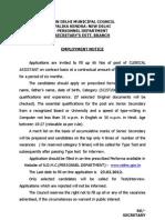 Employment Notice 3Feb