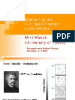 Miki Wadati- Solitons in the F=1 Bose-Einstein condensates