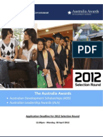 Australia Awards Brochure 2012