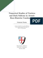 Nicholas Parker- Numerical Studies of Vortices and Dark Solitons in Atomic Bose-Einstein Condensates