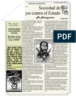 LA MOVIDA LIBERTARIA EN LA REVUELTA DEL TIPNIS, Boletín SACE # 2