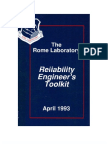 rome laboratory reliability engineers toolkit certified reliability engineer