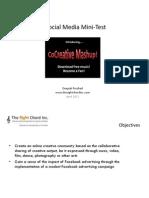 A Social Media Mini-Test - DPershad