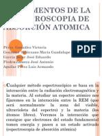 FUNDAMENTOS DE LA ESPECTROSCOPIA DE ABSORCIÓN ATOMICA