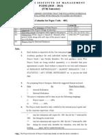 Schedule of PROJECT Prepration_100 - 4th Sem(2010-12)