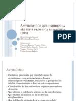 Antibióticos que inhiben la síntesis proteica ribosomal