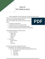 DasProg Modul 04 Tipe,Nama&Nilai