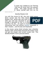 James Bond Firearms