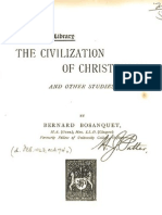 Bernard Bosanquet THE CIVILIZATION OF CHRISTENDOM London 1893