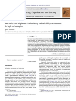 On Audits and Airplanes - Redundancy and Reliability-Assessment in High Technologies