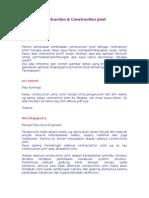 (Struktur)Contraction&Construction Joint