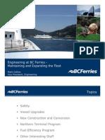 BC Ferries Engineering Presentation Feb 1007