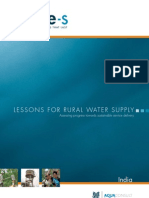 AJ James Triple-S India Rural Water Supply Service Delivery Study 2011