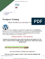 #1 WordPress Training _ Master WordPress in 1-Day