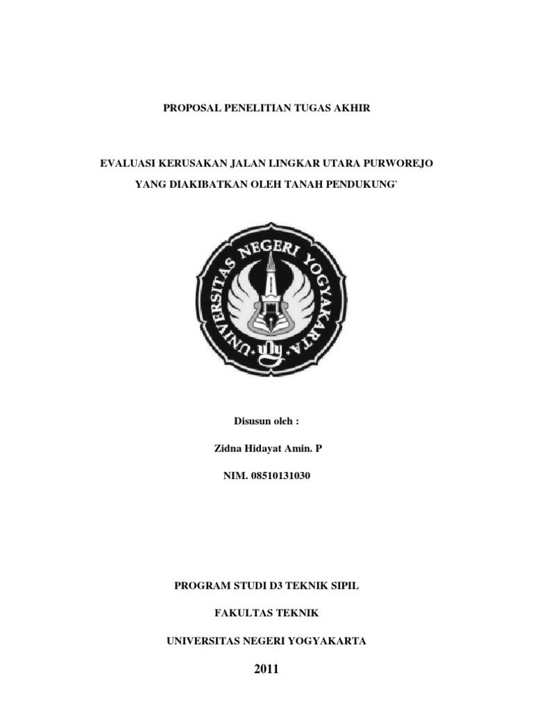 Proposal Proyek Akhir D3 Teknik Sipil