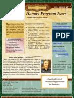 February 13 Honors Newsletter
