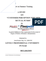 23940071 Customer Perception Towards Mutual Funds
