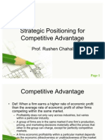 Strategic Positioning for Competitive Advantage