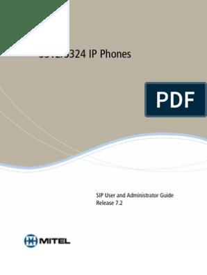 Mitel 5312 - 5324 (guide avancé) ENG | Telephone | Session