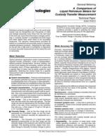 A Comparison of Liquid Petroleum Meters for Custody Transfer Measurement