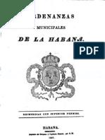 Ordenanzas Municipales de La Habana, 1827